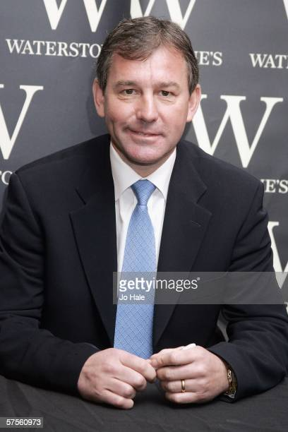 Former England and Manchester Utd footballer Bryan Robson signs copies of his autobiography publication 'Robbo The Autobiography' at Waterstone's...
