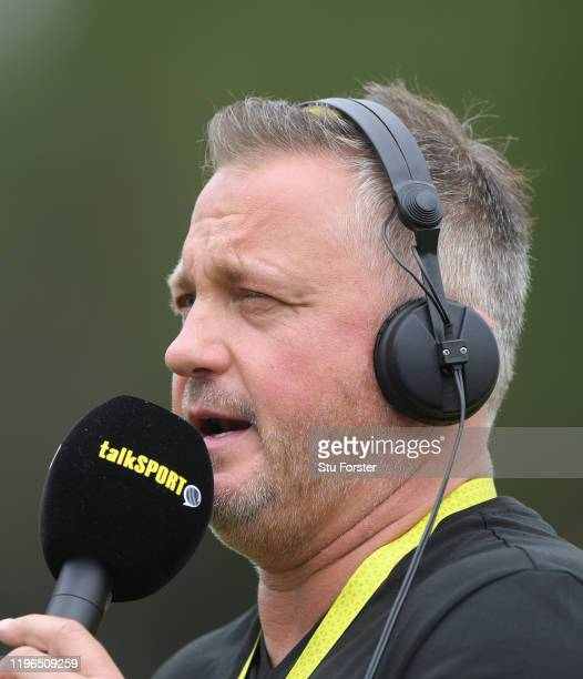 Former England bowler and TalkSport commentator Darren Gough talks to the sporting nation after Day Four of the First Test match between England and...