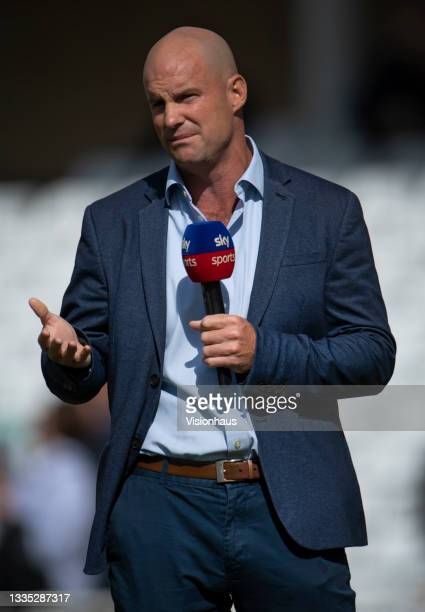 Former England captain and Sky Sports commentator Andrew Strauss before day four of the First LV= Insurance Test Match between England and India at...