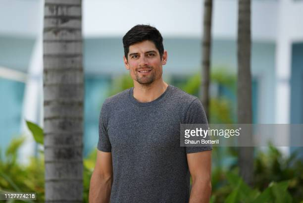 Former England captain Sir Alastair Cook poses for a portrait on February 06 2019 in Rodney Bay Saint Lucia