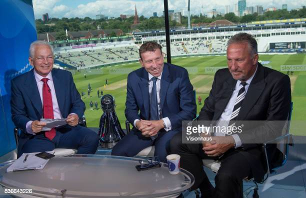 Former England Captains and current Sky Sports commentators David Gower Michael Atherton and Ian Botham during day two of the 1st Investec test match...