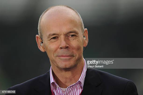 Former England coach Sir Clive Woodward before the RBS Six Nations match between England and Ireland at Twickenham Stadium on February 22 2014 in...