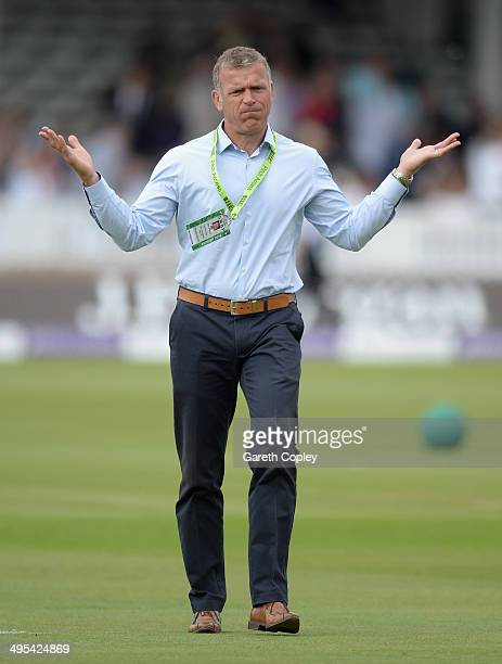 Former England cricketer Alec Stewart during the 4th Royal London One Day International match between England and Sri Lanka at Lord's Cricket Ground...