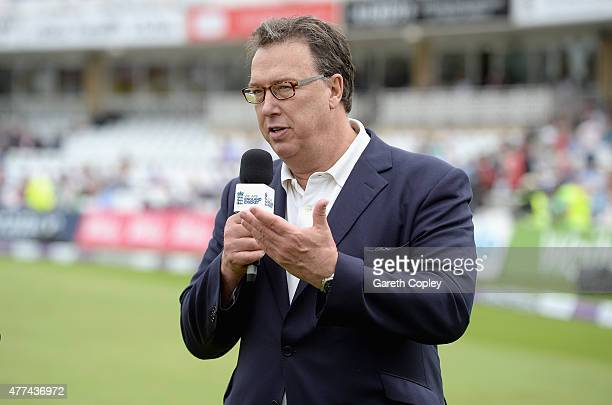 Former England cricketer Derek Pringle speaks to ECB presenter Charlotte Jackson ahead of the 4th ODI Royal London OneDay match between England and...