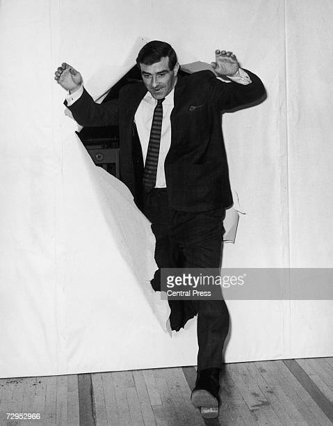 Former England cricketer Fred Trueman bursts onto the stage at the Club Fiesta in Stockton-on-Tees, where he is performing a nightly 60 minute stand...