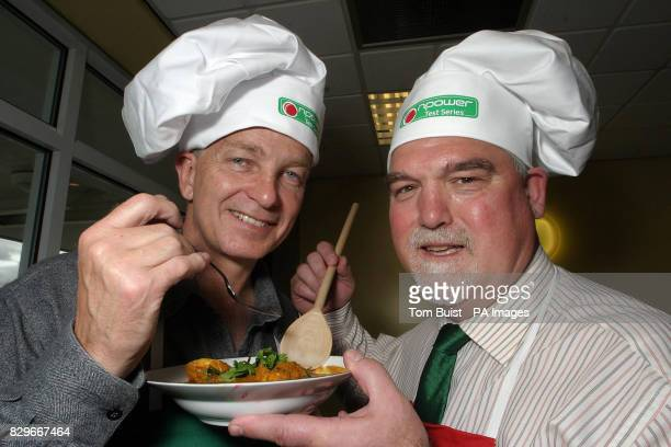 Former England cricketer's Mike Gatting and David Gower judge the 'Red Hot Curry Challenge'