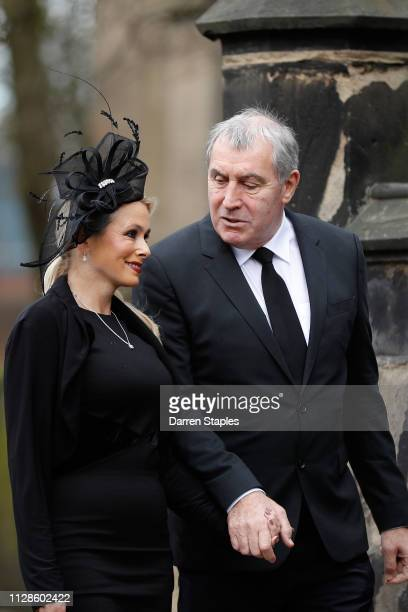 Former England football player Peter Shilton attends the funeral of 1966 World Cup and former Stoke City Goalkeeper Gordon Banks on March 04 2019 in...