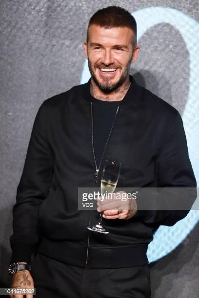 Former England footballer David Beckham attends a House 99 activity on September 25, 2018 in Shanghai, China.
