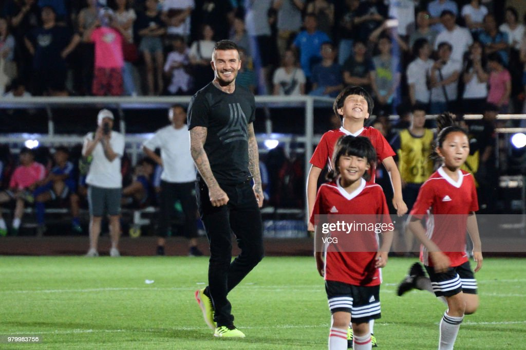 David Beckham Attends CUFA Seeds Group Grand Final Kickoff In Beijing