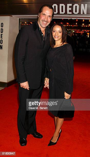 Former England footballer David Seaman and wife Debbie arrive at the World Premiere of Phantom Of The Opera at the Odeon Leicester Square on December...