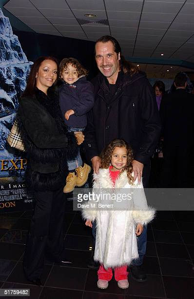 Former England footballer David Seaman wife Debbie and their children arrive at the UK premiere of 'Polar Express' at Vue cinema in Leicester Square...