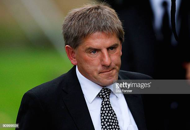 Former England footballer Peter Beardsley arrives before the Sir Bobby Robson Memorial Service at Durham Cathedral on September 21 2009 in Durham...