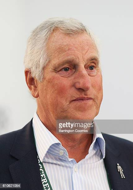 Former England goalkeeper Ray Clemence attends day 2 of the Soccerex Global Convention 2016 at Manchester Central Convention Complex on September 27,...