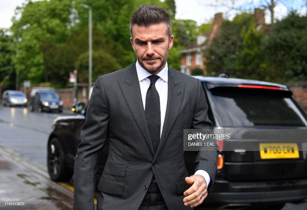 BRITAIN-US-BECKHAM-COURT : ニュース写真