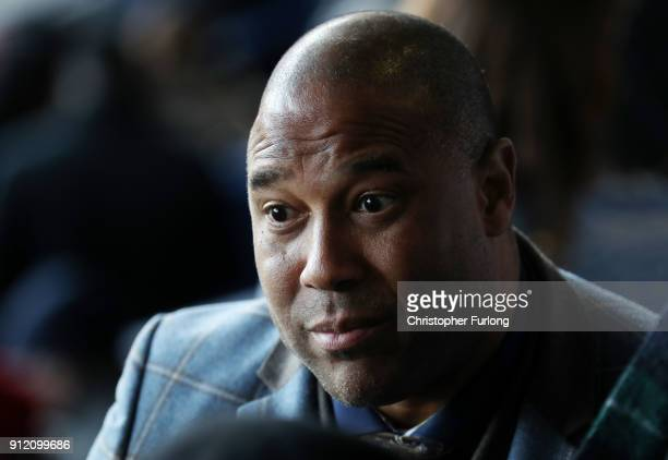 Former England international John Barnes looks on during a memorial service for former West Bromwich Albion and Aston Villa football player Cyrille...