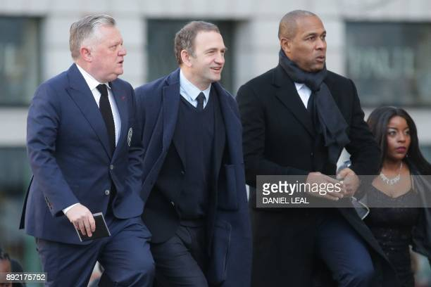 Former England international Les Ferdinand arrives at St Paul's cathedral for a Grenfell Tower National Memorial service on December 14 2017 in...