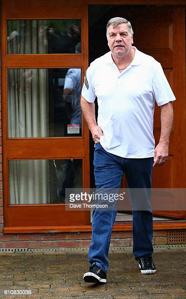 Former England manager Sam Allardyce leaves his family home on September 28 2016 in Bolton England Allardyce left his position as the national...