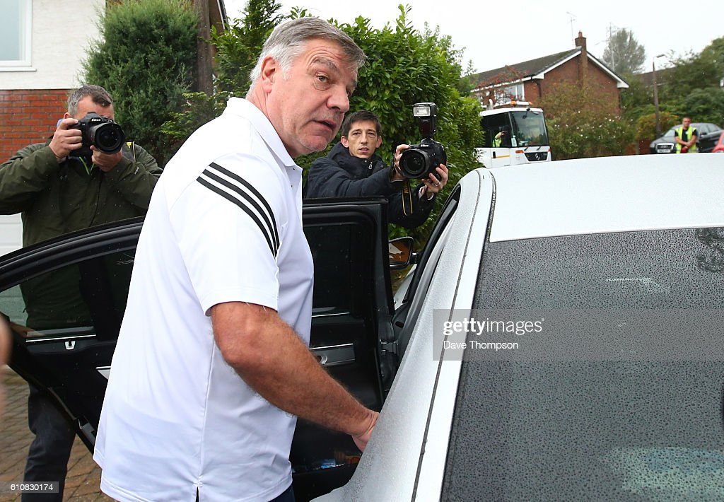 Sam Allardyce Leaves England Football Managers Position After Newspaper Allegations : News Photo