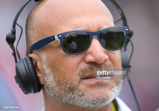 Former England player and TalkSport host Mark Butcher pictured during Day Five of the Third Test between South Africa and England at St George's Park...