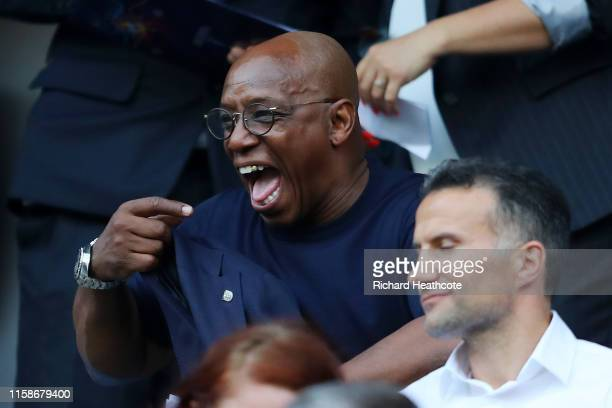 Former England player Ian Wright is seen in the stands prior to the 2019 FIFA Women's World Cup France Quarter Final match between Norway and England...