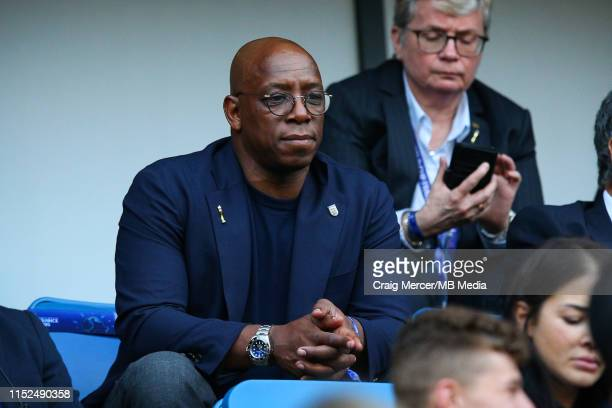 Former England player Ian Wright looks on ahead of the 2019 FIFA Women's World Cup France Quarter Final match between Norway and England on June 27...