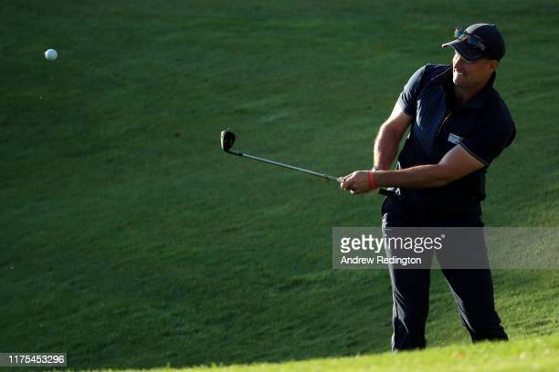 Former English cricketer Sir Andrew Strauss during the ProAm tournament prior to the start of the BMW PGA Championship at Wentworth Golf Club on...
