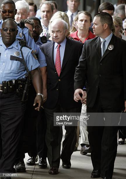 Former Enron chairman Kenneth Lay leaves the Bob Casey US Courthouse after his fraud and conspiracy trial May 25 in Houston After 16 weeks of...