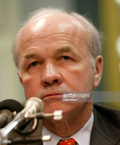Former Enron Chairman Kenneth Lay reads a statement before the Senate Committee on Commerce Science and Transportation February 12 2002 in Washington...