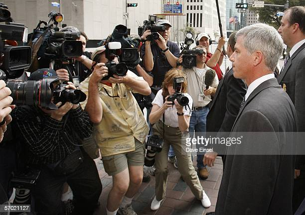 Former Enron chief financial officer Andrew Fastow leaves the Bob Casey United States Courthouse after the first day of his testimony March 7 2006 in...