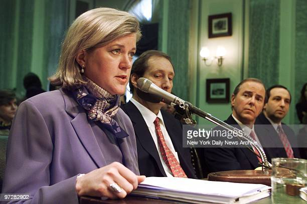 Former Enron Vice President Sherron Watkins testifies at a hearing of the Senate Commerce Committee in Washington Jeffery Skilling Enron's former CEO...