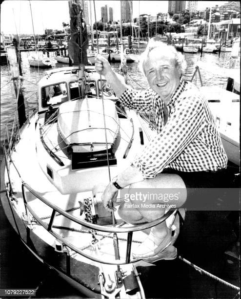 Former equerry to Queen Elizabeth and Prince Philip Lt Commander Michael Parker pictured on his 40 ft Sailor class sloop Pineapple Poll at...
