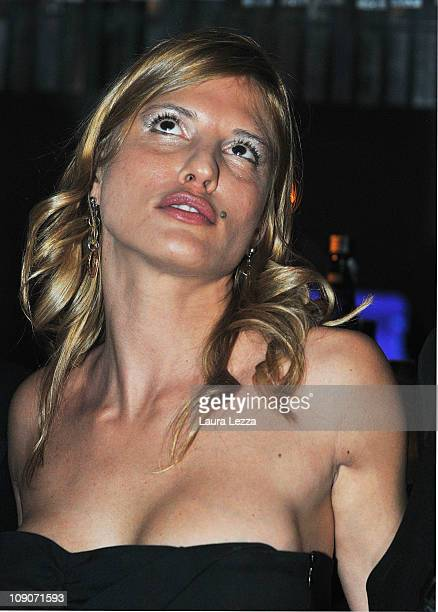 Former escort Nadia Macri implicated in alleged sexual scandals with Italian Prime Minister Silvio Berlusconi attends as a special guest the Bunga...