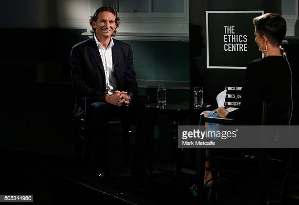 Former Essendon coach James Hird speaks for the first time about the Essendon doping scandal at The Ethics Centre on January 17 2016 in Sydney...