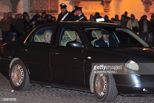 Former EU commissioner Mario Monti arrives at the Quirinale, the presidential palace on November 13, 2011 in Rome. Former European commissioner Mario...