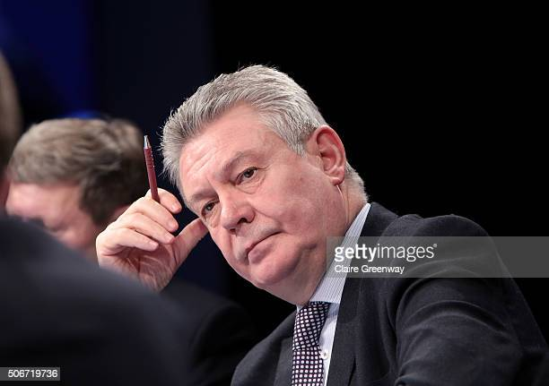 Former European Commissioner for Trade, Karel de Gucht, attends the 'EU Wargames' event at The Porter Tun on January 25, 2016 in London, England. 'EU...