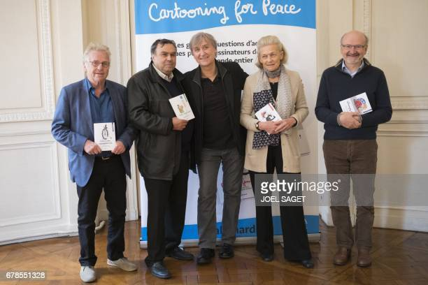 Former European MP Daniel CohnBendit French historian Benjamin Stora French press cartoonist Jean Plantureux also known as Plantu French philosopher...