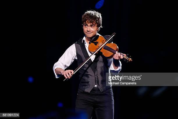 Former Eurovision Song Contest winner Alexander Rybak performs at the Ericsson Globe on May 14 2016 in Stockholm Sweden