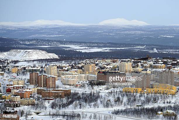 LARSON Former excavation works are seen on the outskirts of the minning town of Kiruna on February 9 2009 Sweden's northernmost town has long known...