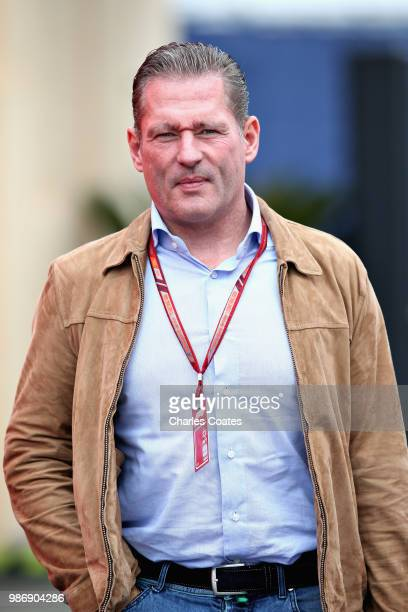 Former F1 driver Jos Verstappen walks in the Paddock before practice for the Formula One Grand Prix of Austria at Red Bull Ring on June 29 2018 in...