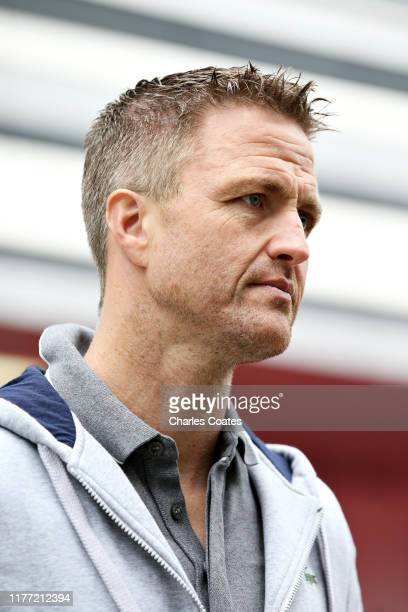 Former F1 driver Ralf Schumacher looks on in the Paddock during previews ahead of the F1 Grand Prix of Russia at Sochi Autodrom on September 26, 2019...