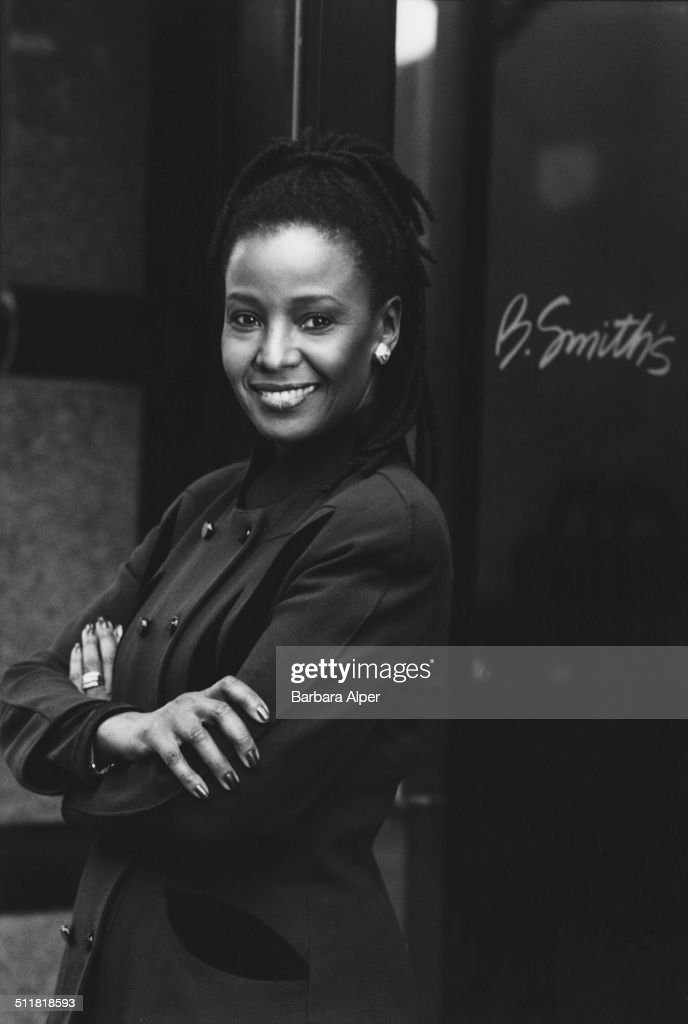 Former fashion model and current restaurateur B. Smith (Barbara Smith) at her restaurant in New York City, 20th February 2001.