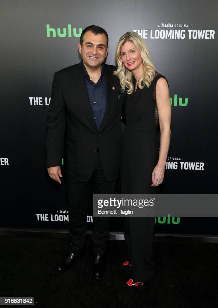 Former FBI agent Ali Soufan and wife Heather Soufan attend Hulu's The Looming Tower series premiere at Paris Theatre on February 15 2018 in New York...
