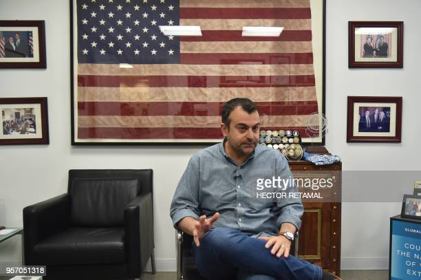 Former FBI Agent Ali Soufan speaks during an interview with AFP in New York City on April 23 2018 To television viewers he is the FBI agent who hunts...