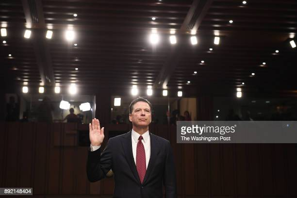 Former FBI Director James Comey appears before the Senate Intelligence Committee in the Hart Office Building on Thursday June 08 2017 in Washington DC