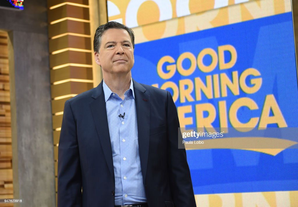 AMERICA - Former FBI Director James Comey in his first live broadcast interview with George Stephanopoulos on 'Good Morning America,' Tuesday, April 17, 2018, airing on the ABC Television Network. JAMES