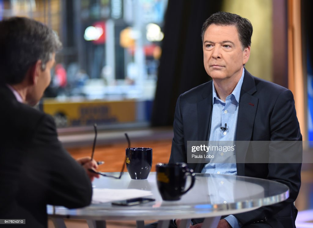 AMERICA - Former FBI Director James Comey in his first live broadcast interview with George Stephanopoulos on 'Good Morning America,' Tuesday, April 17, 2018, airing on the ABC Television Network. GEORGE