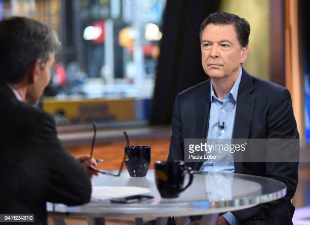 AMERICA Former FBI Director James Comey in his first live broadcast interview with George Stephanopoulos on Good Morning America Tuesday April 17...