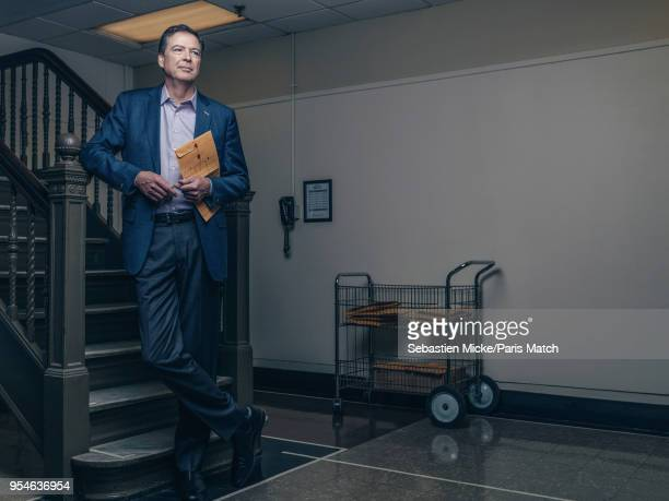 Former FBI director James Comey is photographed for Paris Match on April 19 2018 in New York United States