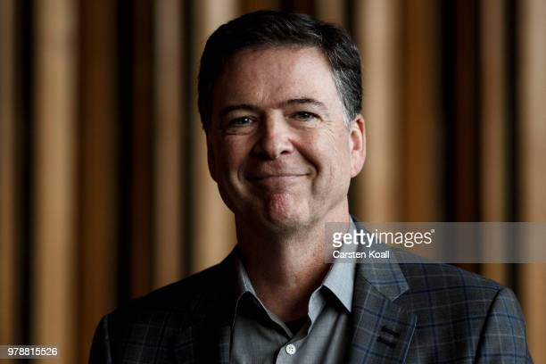 Former FBI Director James Comey arrives for a panel discussion about his book 'A Higher Loyalty' on June 19 2018 in Berlin Germany Comey is in Berlin...