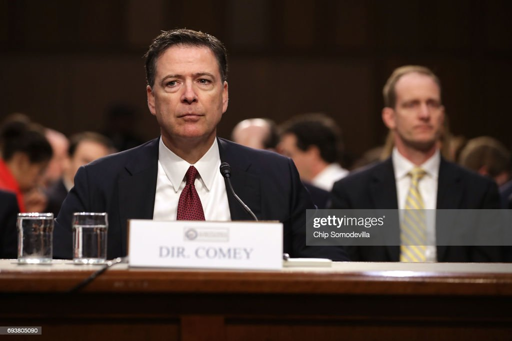 James Comey Testifies At Senate Hearing On Russian Interference In US Election : News Photo